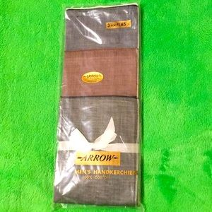 Vintage Men's Arrow Handkerchiefs,new set of three